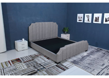 High End Velvet Fabric Bed, Grey Hancur Beludru Bed Desain Sederhana